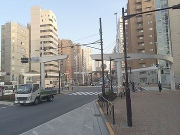 『清水橋』の交差点