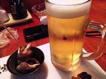 最初は、『生ビール』を頼みました