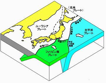 あれは、日本海から続く、北米プレートとユーラシアプレートの境界なのよ