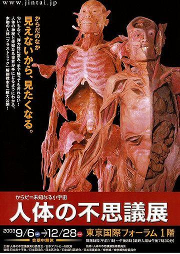 『人体の不思議展』ってのが新潟に来たとき、見に行ったんだけど……
