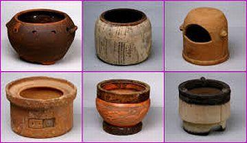 陶器の火道具。右上のやつは、何に使う道具なんでしょう?