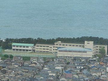 新潟砂丘上の住宅街