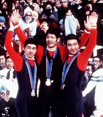 札幌オリンピック『70メートル級純ジャンプ』で、日本勢が金銀銅を独占