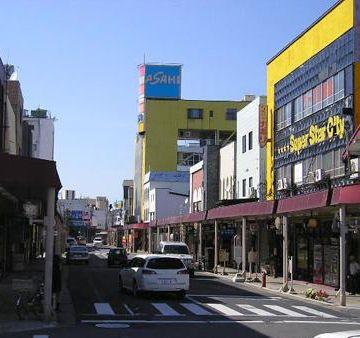 『五所川原駅』駅前通りです