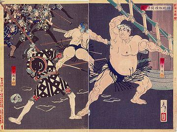1805年に起きた町火消し『め組』と江戸相撲の力士たちの乱闘事件を題材してます