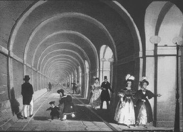 19世紀半ばのテムズトンネル内部