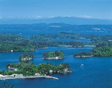 島がたくさん海に浮いてる