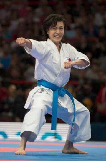 空手世界選手権・形の部で優勝した宇佐美里香選手
