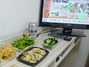 わが食事の友、テレビ