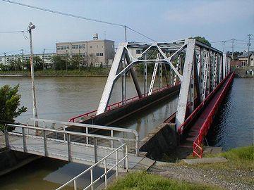 川の立体交差は、これ