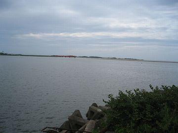 現在の阿賀野川河口付近