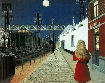 『孤独』ポール・デルヴォー。わたしの好きな画家のひとり。