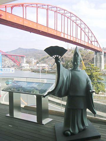 「日招き伝説」の像