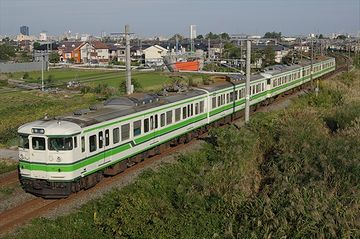 わたしがさっきまで乗ってた電車が、真横を走ってます