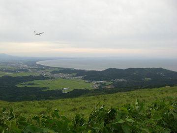 寒風山頂上からの景色