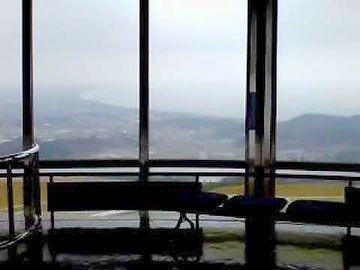 寒風山展望台のベンチ