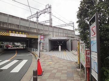 多摩川駅の方を振り返って撮った