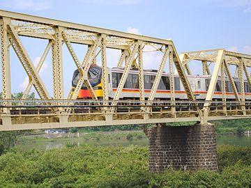 『能代』を出たあと渡った『米代川橋梁』