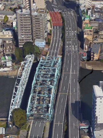 『千住大橋』は、どうやら2本架かってる