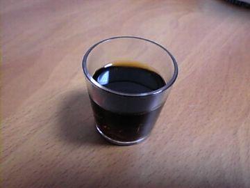 養命酒は、小ちゃいコップで飲むんだよ