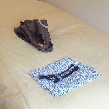 浴衣と帯が、なんとも昭和