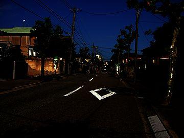 「せきとり」のあるあたり・真っ暗な窪田町