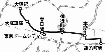 山手線の大塚駅から、宿近くの総武線・錦糸町までバスに乗りました