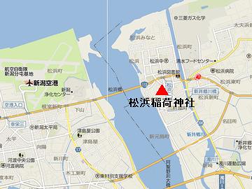 北区松浜付近の地図