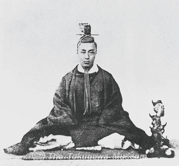 徳川慶喜。なんか覇気が無いですね。でも、76歳まで生きました。徳川将軍の中では、もっとも長命です。