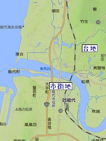 米代川の右岸には、台地も広がってるんですよ