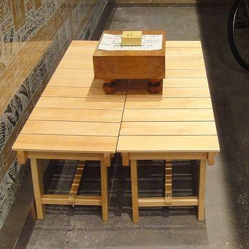 縁台と将棋盤