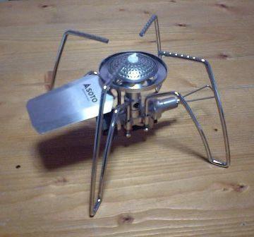 宇宙船みたいです。『ソト(SOTO) 』レギュレーターストーブ ST-310。