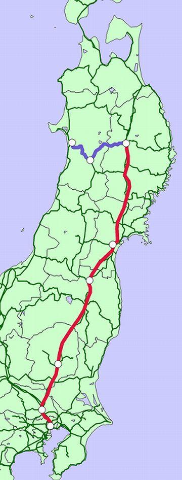 秋田新幹線路線図