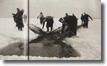 八郎潟・氷下漁業