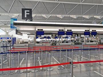 空港は封鎖