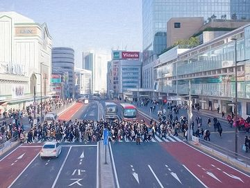 新宿駅南口横断歩道