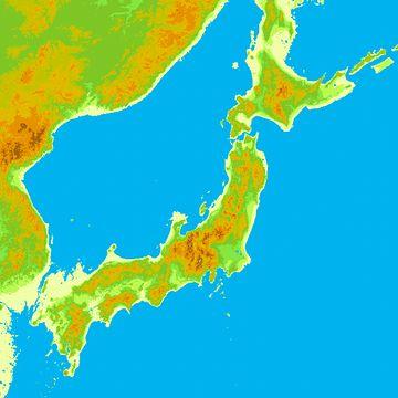 津軽海峡の中央部には、大河のような水路部が残った