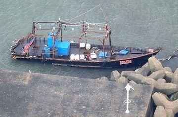 秋田に漂着した北朝鮮の漁船