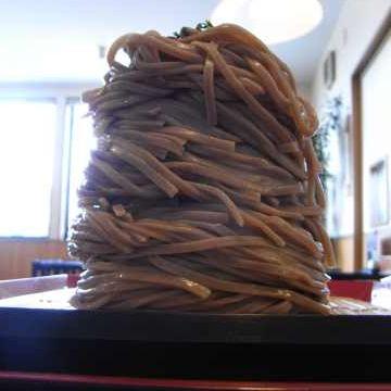 お蕎麦が、そのままの形で出てきた