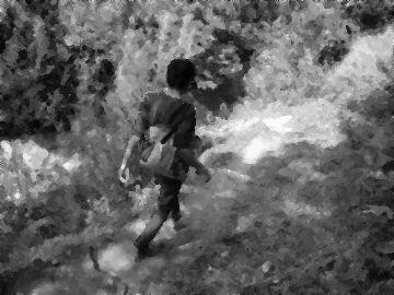 1人の青年だけが、その洞窟に向かった
