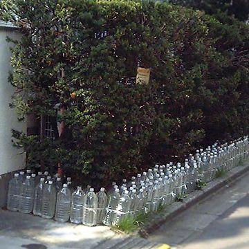 猫の通り道に、ペットボトルが置いてあるでしょ