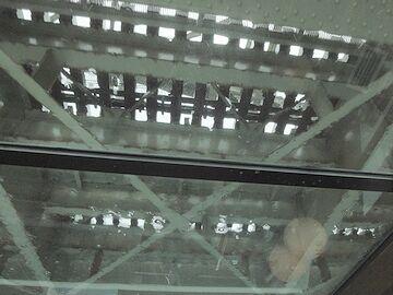 隅田川橋梁を潜る