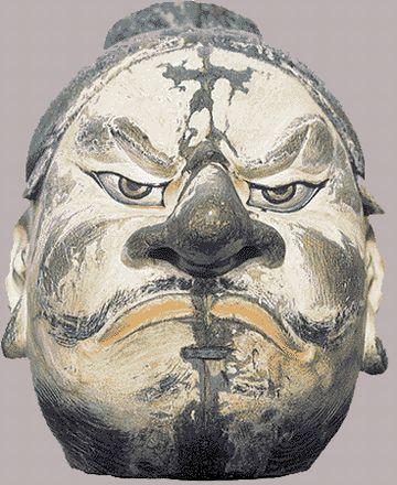 蝦夷の親玉『アテルイ』の像(鹿島神宮所蔵)