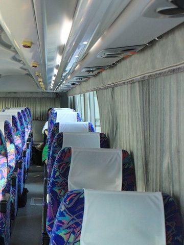 前席の乗客がカーテンを閉めたりすると、視界が悪くなります