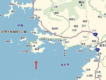 宿毛湾地図