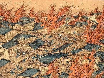 江戸の街は、何度も大火に襲われてます