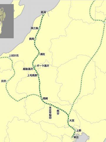 新潟から東京に南下することになります