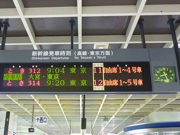 新潟駅・電光掲示板