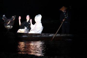阿賀野川を渡って、麒麟山に帰っていくシーン