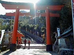 熊野大社の「一の鳥居」